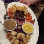 Chateaubriand with roasted vegetables