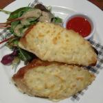 garlic cheesy supreme was delicious,