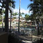 View of the pool from our apartment (number 20)