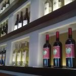 Wine shelf near our table