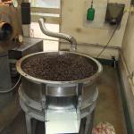 Freshly roasted Kona coffee