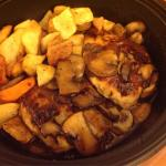 Chicken Marsala with roasted potatoes