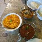 Raja Indian Restaurant - Lamb Achari, Ceylon Fish & Rice