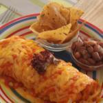 Burrito enchillada style
