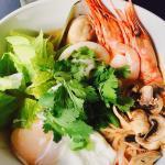 Tom kha noodle seafood