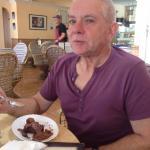 Tim with his gluten-free chocolate cake