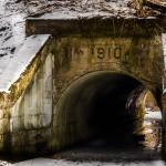 This 1910 Tunnel beneath the CSX Railroad mainline is on the Blue Loop Trail.