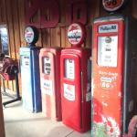 Gas pumps outside