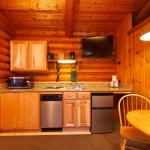 Two Queen Deluxe Cabin Kitchenette