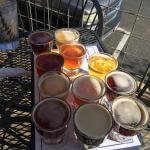 The flight of all 12 beers