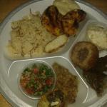 Wild Rice & Shrimp Taboule Baba Ganush Kiebe Dolmes Nabne