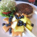 Vegetatarian Burger with Fruit, Gardens of Avila, Avila Beach, Ca