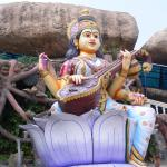 Saraswathi devi statue at Wargal