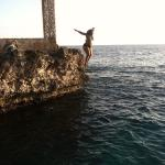 Jumping off the cliffs