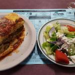Greek Lasagna and Salad