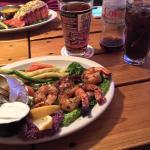 Grilled Cajun shrimp.