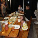 Dining table inside Manakin Villa