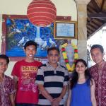 Kadek, Yudha, my dad, me and Putu on our last day =)