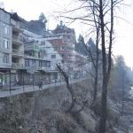 River Beas with the the Hotel on the Left Hand Side