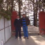 Hotel Entrance with its Youthful Owner....ANUJ SOOD