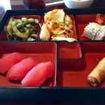 Tuna nigiri lunch bento box