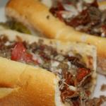 Cheese steak with pepperoni