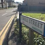 Mill Street Kingston KT1 leading to The Cocoanut Fuller's pub and Kai's Thai restaurant