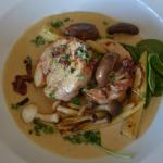 Chicken Ballontine with Bacon Veloute