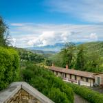 Another view of the surrounding Tuscan hills from the villa