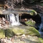 Small waterfall along side the trail