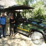 Ben with me and my husband after a great game drive!