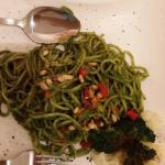 The Leaf Spaghetti (basil and pine nuts sauce)