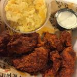 The #3 chicken tender meal ($9) with Nashville hot chicken & macaroni & cheese as a side. Comes