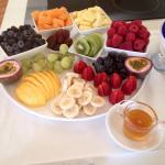 The generous fruit platter.