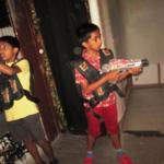 Kids playing Laser Tag