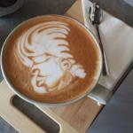 Latte art by our main barrista