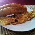 Average mushroom omelette with not many mushrooms!