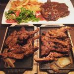 Lamb Chops and T bone steak