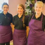 Our new safe uniforms in Cafe Alana