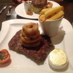 Our Steak & Burger ( More Veg not in pic!)