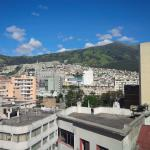 view from the roof top terrace overlooking quito