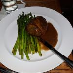 Pork meatloaf with a double portion of asparagus