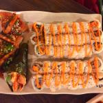 over 30 pieces of sushi
