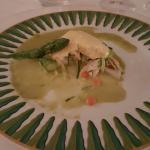 Sandre avec soufflé,  sauce ciboulette