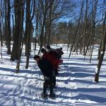 Snow Shoeing on Sunday Feb. 14th! Photo taken by Julie our tour guide at Carriage Hills