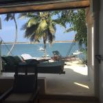 Terrace, Hammock, Loungers and overlooking Sea and Peponi Boats Room 17