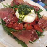 Salade burrata and parma ham