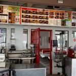 Many options on the menu and very good facilities for a fast-foodish place