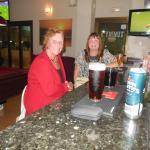 Sat at the bar.