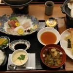 Set dinner with Japanese beef